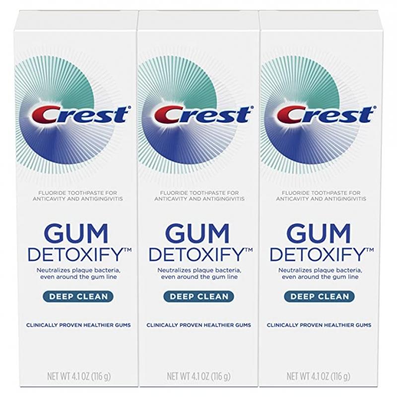 ihocon: Crest Toothpaste Gum Detoxify Deep Clean, 4.1oz (Pack of 3) 牙膏