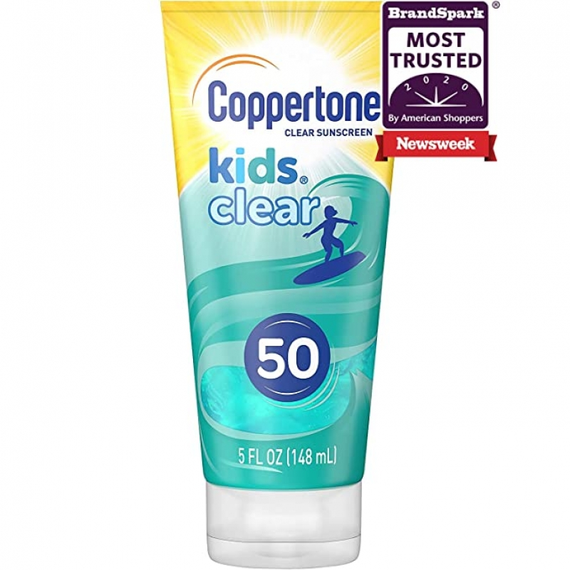 ihocon: Coppertone Kids Clear Blue SPF 50 Sunscreen Lotion, 5 Fluid Ounces 兒童防曬乳