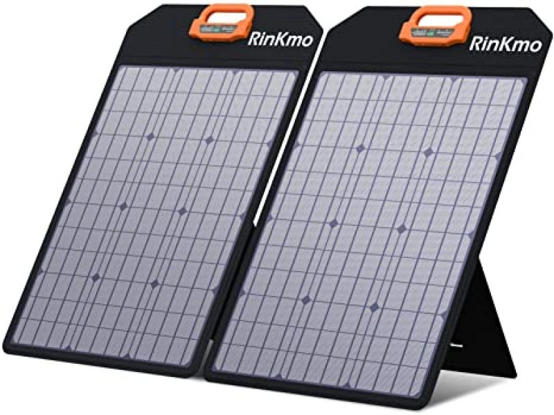 ihocon: Rinkmo 100W Portable Solar Panels Battery Charger with Light Strength Sensor太陽能充電板