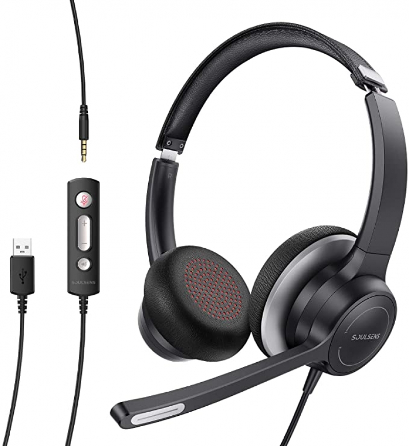 ihocon: Soulsens USB Headset with Microphone Noise Cancelling, 3.5mm  麥克風耳機(有線)