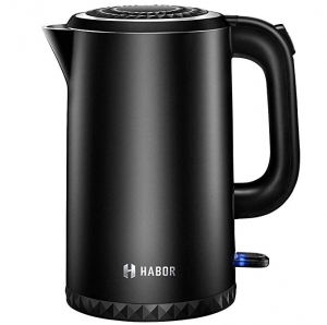 ihocon: Habor Electric Kettle, 1.7L Double Wall 304 Stainless Steel 雙層304不銹鋼電熱水壺