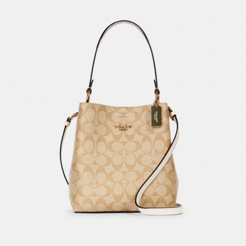 ihocon: Coach Small Town Bucket Bag In Signature Canvas