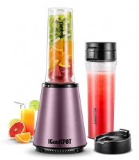 ihocon: ICOOKPOT Smoothie Blender with 2 X 18 oz BPA-Free Portable Sports Bottles and Travel Lid 個人果汁機含便攜式運動水壺