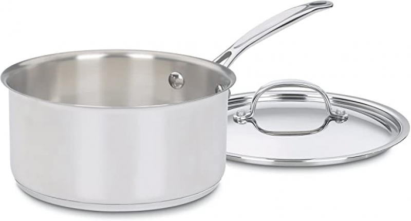 ihocon: Cuisinart 7193-20 Chef's Classic Stainless 3-Quart Saucepan with Cover 含蓋不銹鋼鍋