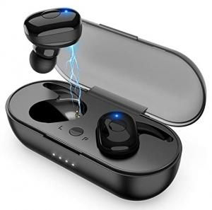 ihocon: Amuoc T10 Plus Bluetooth 5.0 Wireless In-Ear Sweat-Proof Stereo Headphones with Portable Charging Case 真無線耳機