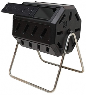 ihocon: FCMP Outdoor IM4000 Tumbling Composter, 37 gallon, Black 旋轉堆肥箱