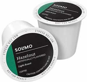 ihocon: [Amazon自家品牌] 100 Ct. Solimo Light Roast Coffee Pods, Hazelnut Flavored, Compatible with Keurig 2.0 K-Cup Brewers咖啡膠囊