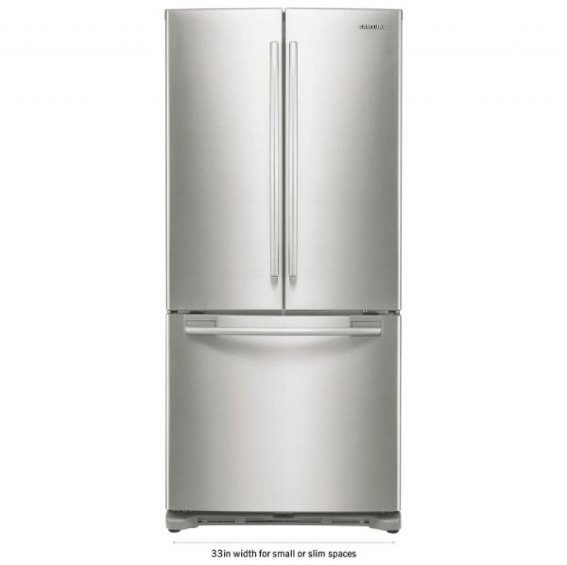 ihocon: Samsung 33 in. W 17.5 cu. ft. French Door Refrigerator in Stainless Steel and Counter Depth 不銹鋼冰箱