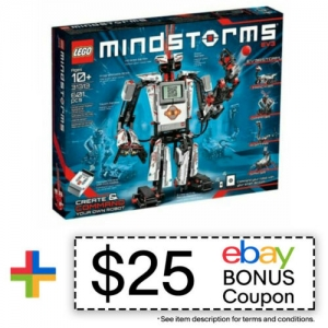 ihocon: LEGO 31313 Mindstorms Programmable EV3 Kids Customizable Robot + $25 eBay COUPON