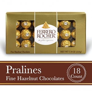 ihocon: Ferrero Rocher Fine Hazelnut Milk Chocolate, 18 Count金莎巧克力