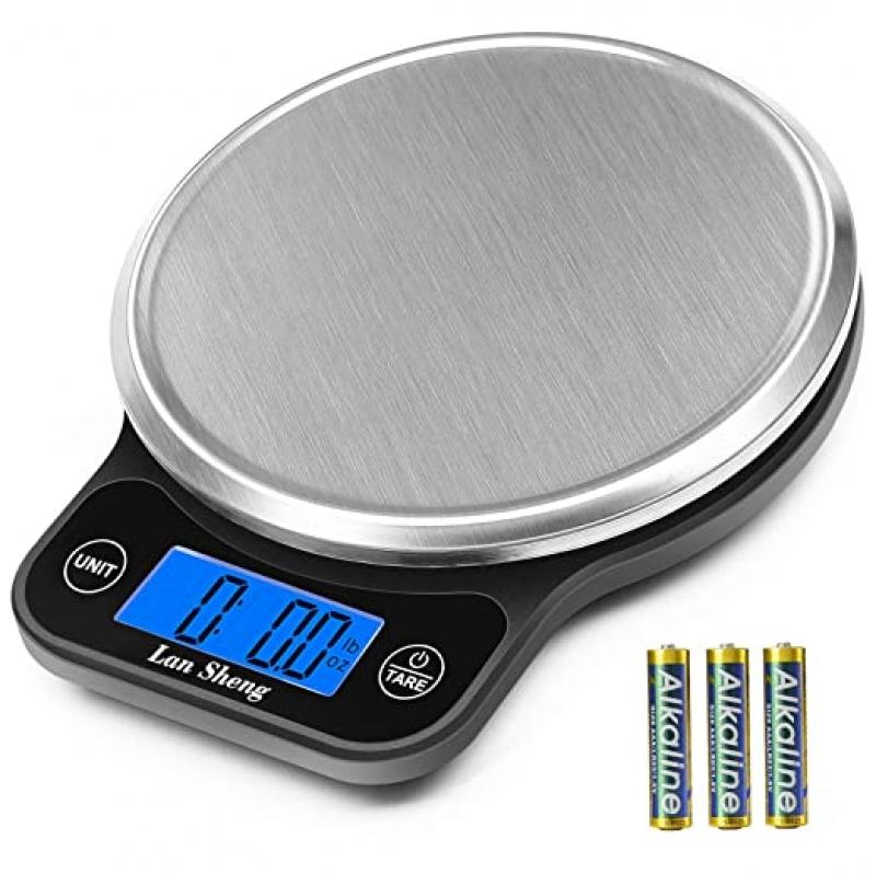 ihocon: Lansheng Food Scale 13lb/6kg with 1g/0.04oz Precise Graduation廚用電子秤(含電池)