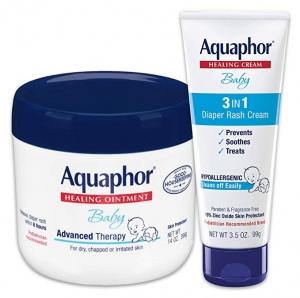 ihocon: Aquaphor Baby Skin Care Set- Includes 14 oz. Jar of Advanced Healing Ointment & 3.5 oz Tube of Diaper Rash Cream 嬰兒皮膚滋潤修復霜+尿布疹霜