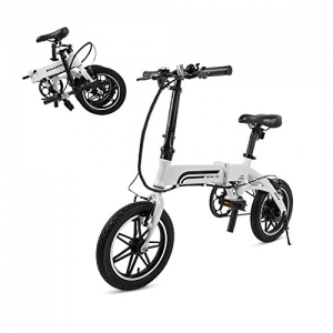 ihocon: SwagCycle EB-5 Pro Lightweight and Aluminum Folding EBike with Pedals, Power Assist, and 36V Lithium Ion Battery; Electric Bike with 14 inch Wheels and 250W Hub Motor 輕型折疊式電動自行車