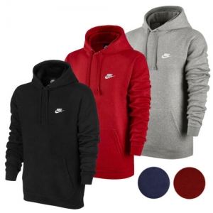 ihocon: Nike Men's Active Sportswear Long Sleeve Fleece Workout Gym Pullover Hoodie男士連帽套頭衫-多色可選