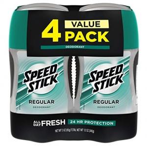 ihocon: Speed Stick Deodorant for Men, Regular - 3 Ounce (4 Pack) 男士體香劑