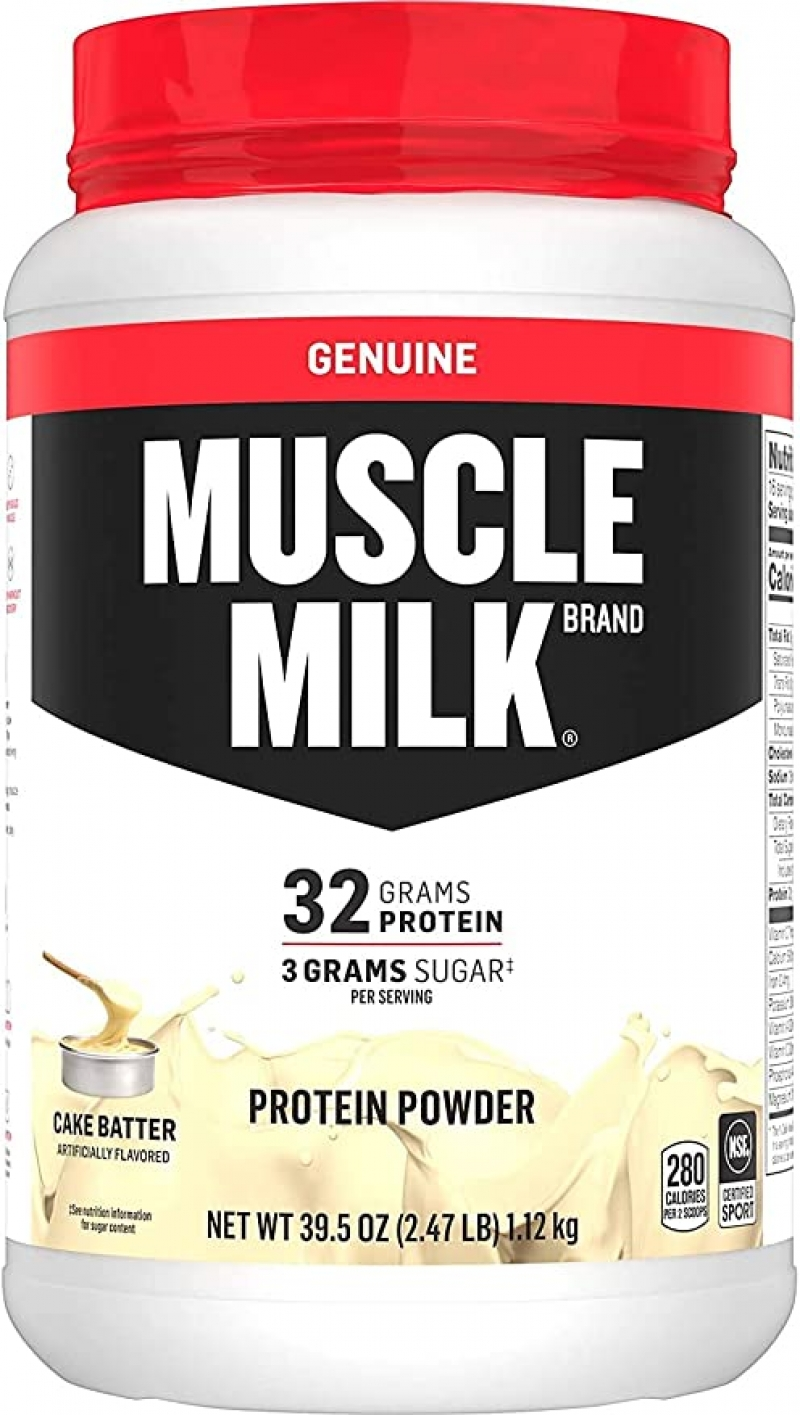 ihocon: Muscle Milk Genuine Protein Powder, Cake Batter, 32g Protein, 2.47 Pound, 16 Servings 蛋白粉