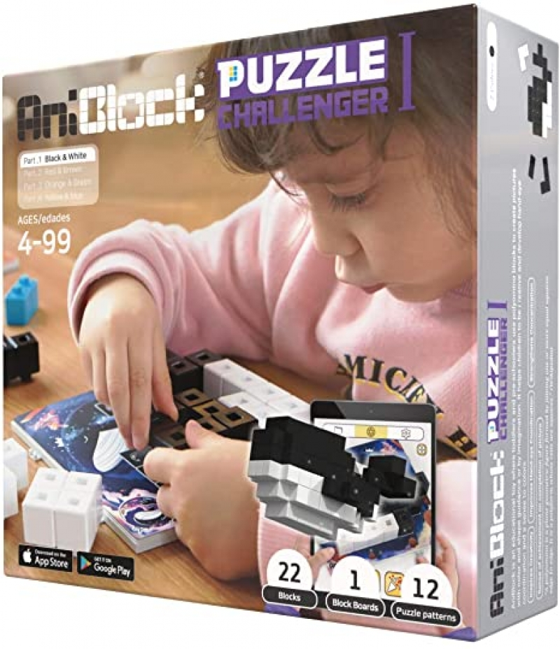 ihocon: AniBlock Puzzle Challenger Single Pack - STEM Learning 益智立體拼圖