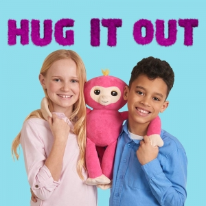 ihocon: Fingerlings HUGS - Bella (Pink) - Advanced Interactive Plush Baby Monkey Pet - by WowWee 進階互動猴