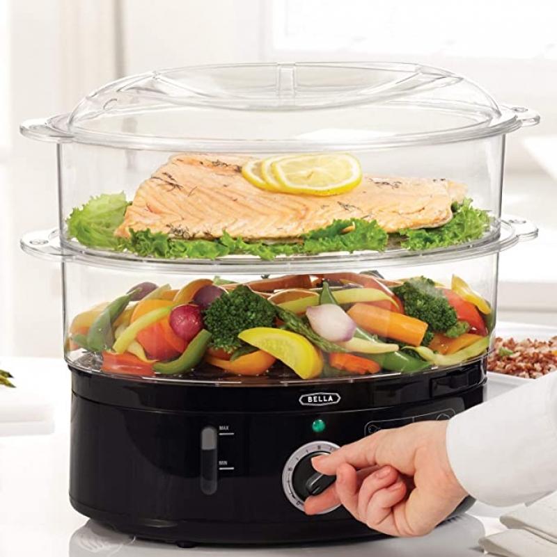 ihocon: BELLA 7.4 Quart Healthy Food Steamer 雙層電蒸鍋