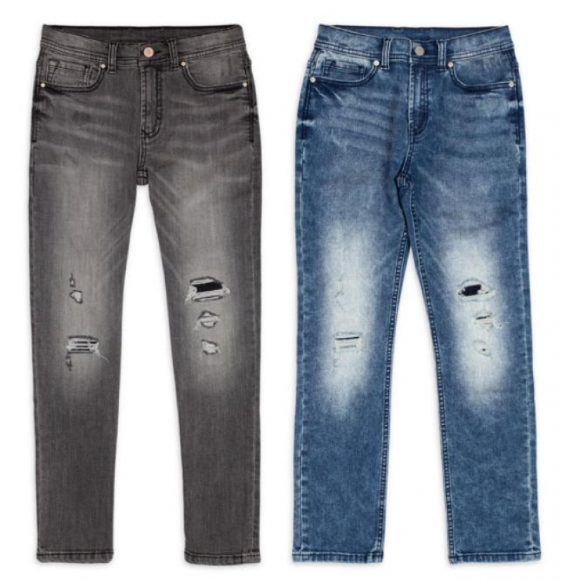 ihocon: Wonder Nation Boys Rip and Repair Jeans, Sizes 4-18 & Husky 男童牛仔褲-2色可選