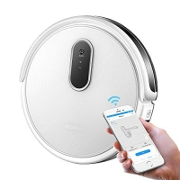 ihocon: COAYU Robot Hoover, 1200Pa Strong Suction, WiFi & App Control, Self-Charging Robot Vacuum Cleaner, Cleans Pet Fur, Hard Floor to Carpet (White) 自動充電吸地機器人
