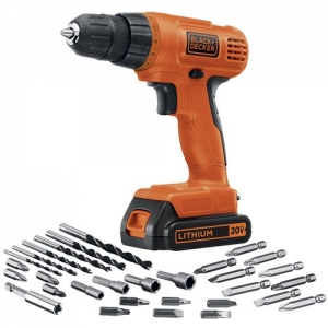 ihocon: BLACK+DECKER 20V MAX Cordless Drill / Driver with 30-Piece Accessories (LD120VA)  無線電鑽/螺絲起子及配件