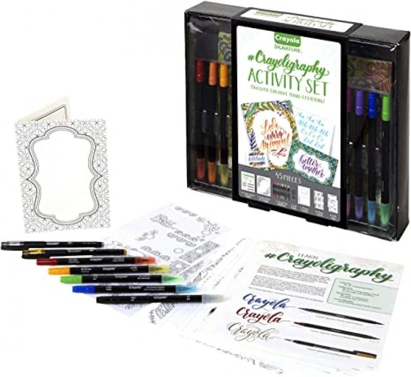 ihocon: Crayola Signature Crayoligraphy Hand Lettering Art Set 藝術字/手寫字練習套裝