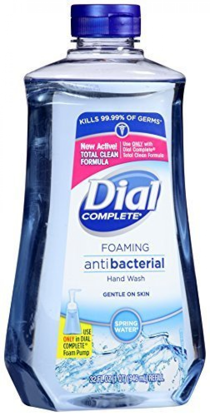 ihocon: Dial Complete Antibacterial Foaming Hand Soap Refill, Spring Water, 32 Fluid Ounces 抗菌泡沫洗手液皂
