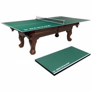 ihocon: Dunlop Official Size Table Tennis Conversion Top, 100% Pre-assembled, Includes Premium Clamp Style Net and Post 折疊式乒乓球桌面 (含網)