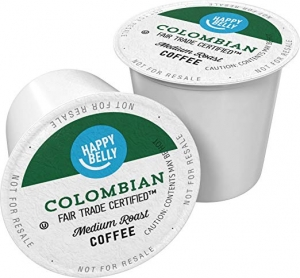 ihocon: Amazon Brand - 100 Ct. Happy Belly Medium Roast Coffee Pods, Colombian, Compatible with Keurig 2.0 K-Cup Brewers 咖啡膠囊