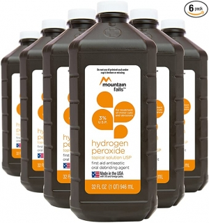 ihocon: Mountain Falls 3% Hydrogen Peroxide, 32 Fluid Ounce (Pack of 6) 雙氧水