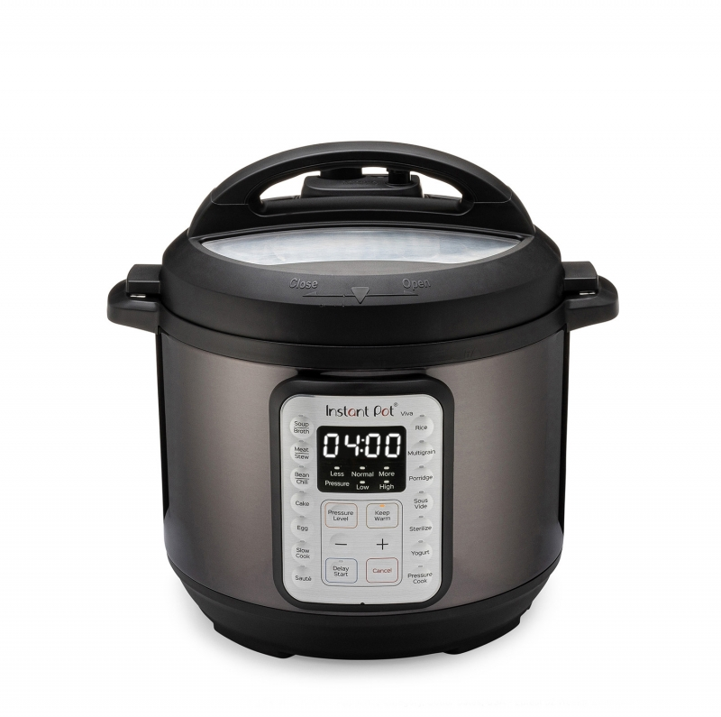 ihocon: Instant Pot Instant Pot VIVA Black Stainless 6-Quart 9-in-1 Multi-Use Programmable Pressure Cooker 多功能電壓力鍋