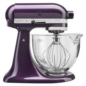 ihocon: KitchenAid KSM155GBPB Artisan Design Series 5 Quart Tilt-Head Stand Mixer with Glass Bowl, Plumberry 攪拌機