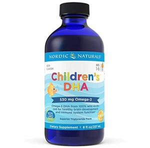 ihocon: Nordic Naturals Children's DHA Liquid - Omega-3 DHA Fish Oil Supplement for Kids, Orange, 8 Fl. Oz 兒童魚油補充劑