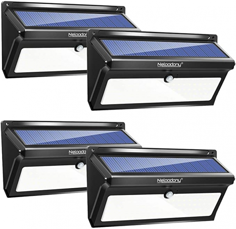 ihocon: Neloodony Outdoor 100 LED Waterproof Solar Motion Sensor Light (4 Pack) 太陽能動作感應庭園燈