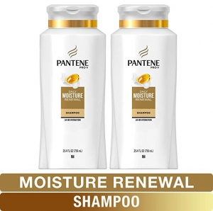 ihocon: Pantene Shampoo, Pro-V Daily Moisture Renewal for Dry Hair, 25.4 Fl Oz, Twin Pack 潘婷乾性髮質保濕洗髮精
