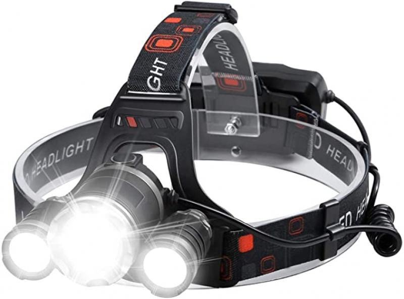 ihocon: Beterlight High Lumen Rechargeable Lightweight Tactical Headlamp 充電式LED頭燈