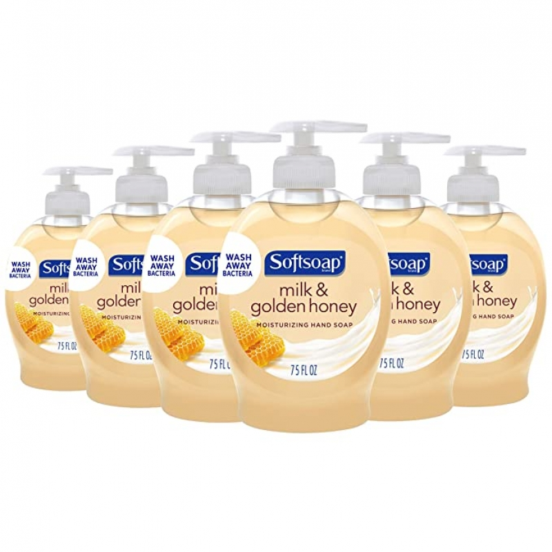 ihocon: Softsoap Moisturizing Liquid Hand Soap, Milk and Honey - 7.5 Fluid Ounce (6 Pack)洗手液皂