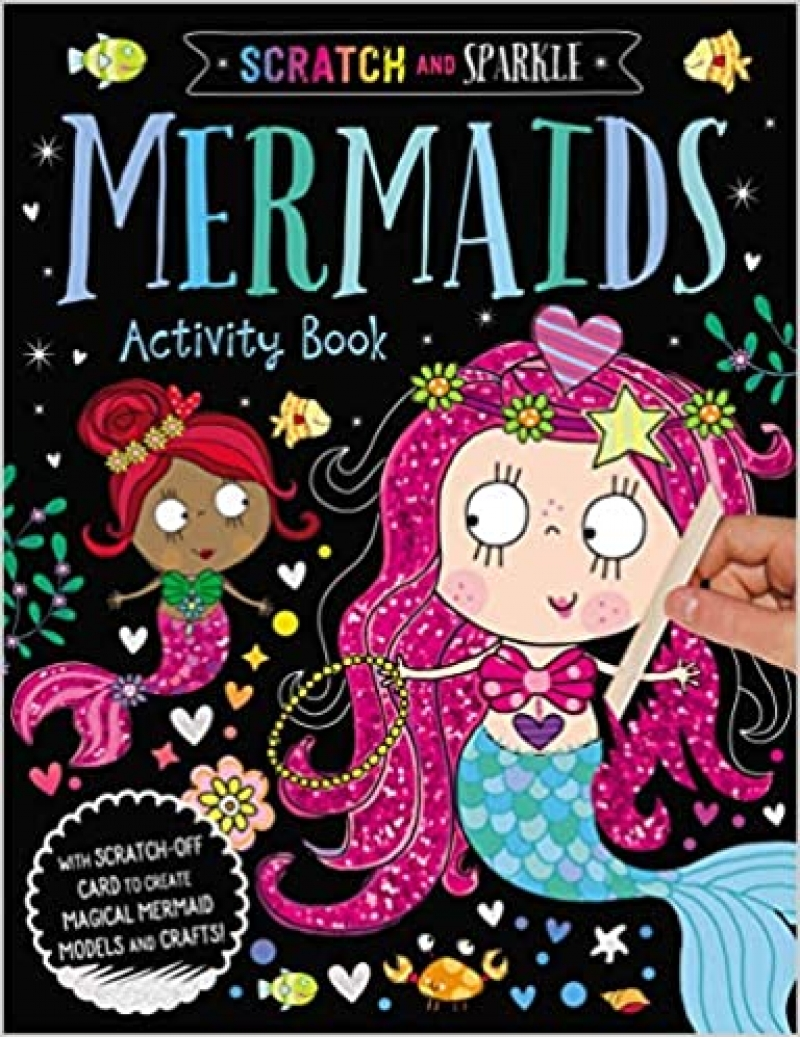 ihocon: [兒童遊戲書] Mermaids Activity Book (Scratch and Sparkle)