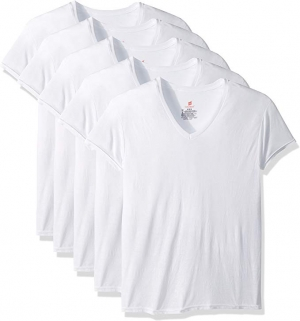 ihocon: Hanes Men's 5-Pack ComfortBlend V-Neck T-Shirt with FreshIQ