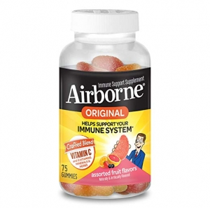 ihocon: Airborne Vitamin C 750mg Assorted Fruit Flavored Gummies (75 count in a bottle)免疫力增強軟糖