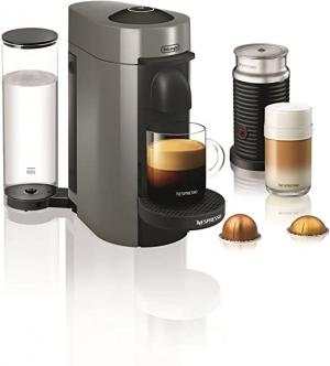 ihocon: Nespresso by De'Longhi ENV150GYAE VertuoPlus Coffee and Espresso Machine Bundle with Aeroccino Milk Frother 膠囊咖啡機及奶泡機
