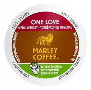ihocon: Marley Coffee Single Serve K-cup Capsules, One Love, Medium Roast, Keurig Brewer Compatible, 24 Count 咖啡膠囊