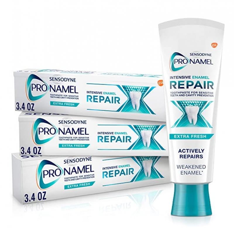 ihocon: Sensodyne Pronamel Intensive Enamel Repair Toothpaste for Sensitive Teeth, to Reharden and Strengthen Enamel, 3.4 Ounces (Pack of 3) 敏感齒牙膏