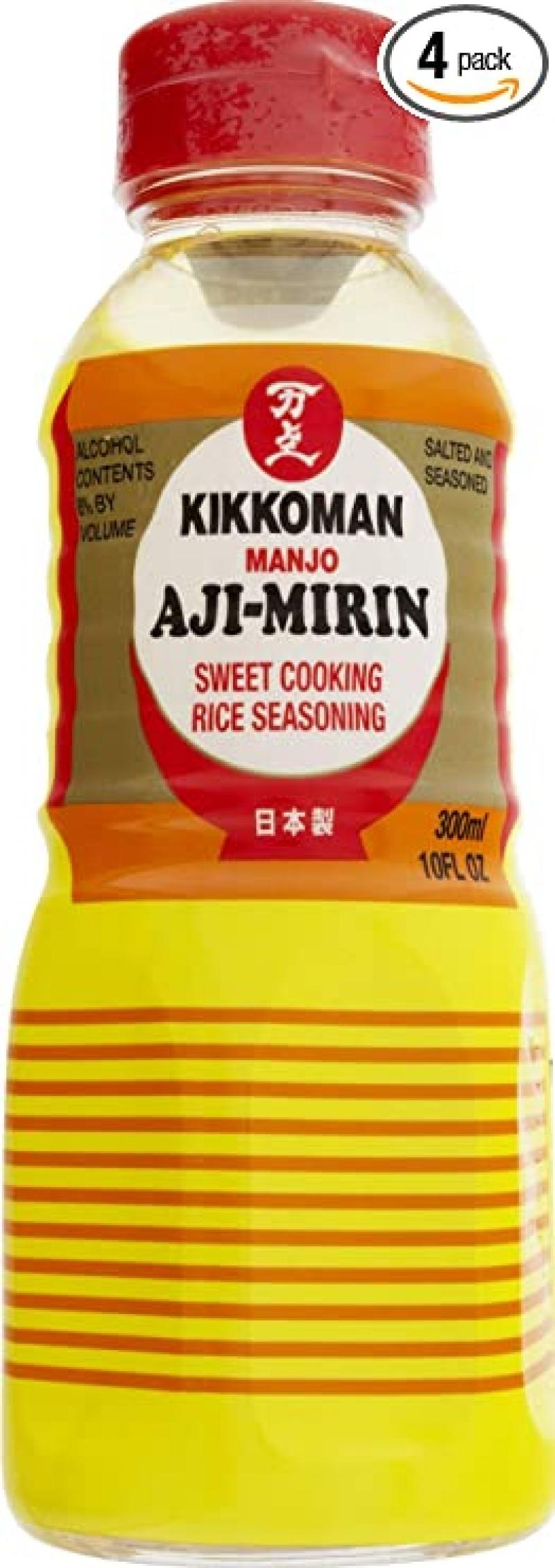 ihocon: Kikkoman Aji-mirin, 10-Ounce Bottle (Pack of 4) 味霖(日本製)