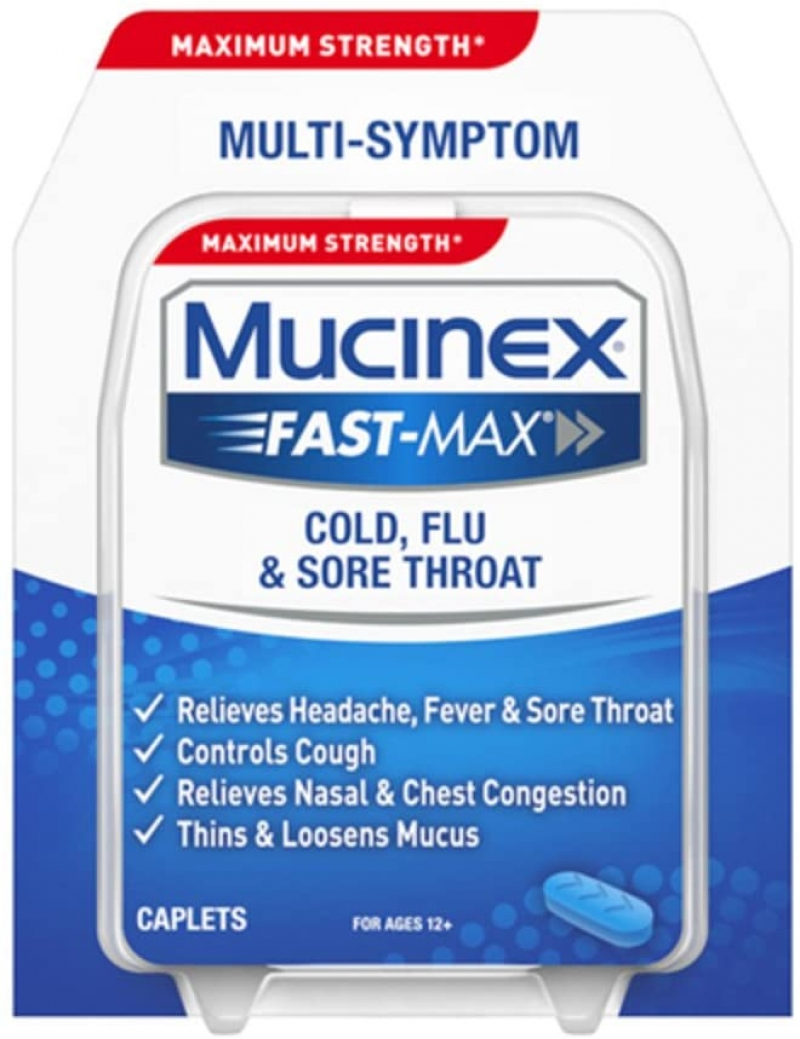 ihocon: Mucinex Fast-Max Cold, Flu, & Sore Throat Caplets, 20ct 感冒藥