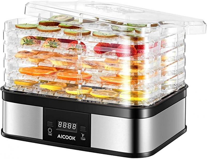 ihocon: AICOOK Food Dehydrator Machine 五層食品脫水機/乾果機
