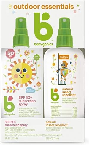 ihocon: Babyganics Baby Sunscreen Spray 50 SPF and Bug Spray, 6oz 嬰兒防曬噴霧