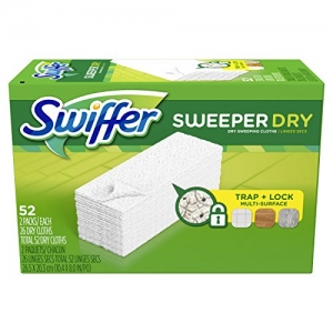 ihocon: Swiffer Sweeper Dry Mop Refills for Floor Mopping and Cleaning, All Purpose Floor Cleaning Product, Unscented, 52 Count  乾拖地