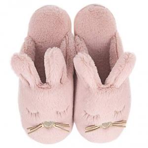 ihocon: 毛絨兔子拖鞋 - 多色可選